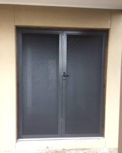 Double Perforated Doors Aluminium